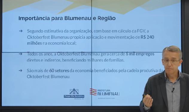 Prefeito apresentou um balanço do impacto econômico da festa – Foto: Reprodução/Redes Sociais/Divulgação/ND
