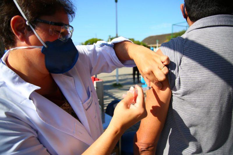 Na segunda fase da campanha, foram imunizadas 7.500 pessoas com doenças crônicas na cidade, número que representa 125% da meta determinada pelo Ministério da Saúde para Florianópolis – Leonardo Sousa/PMF/Divulgação/ND