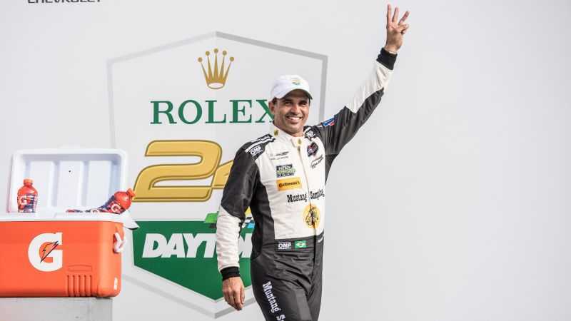 Em 2018, ele celebrou sua terceira vitória nas 24h de Daytona - Foto: Divulgação/José Mário Dias/Garagem 360/ND