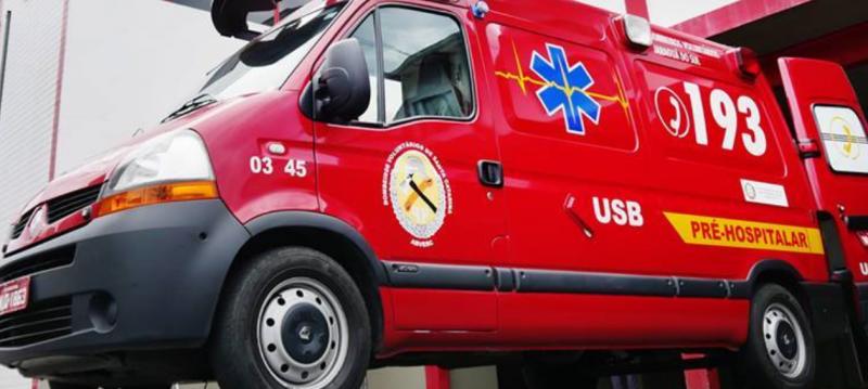 Bombeiros Voluntários de Jaraguá do Sul atenderam acidente inusitado na manhã desta quarta-feira (15) – Foto: Divulgação/ND
