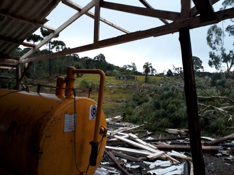 Defesa Civil investigará o que causou a destruição em Belmonte, Descanso e Iporã do Oeste - Divulgação/ND