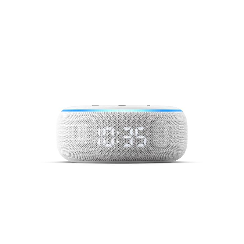 Confira todos os eletrônicos avaliados pelo 33Giga – Echo Dot com Relógio. O teste completo você confere em https://bit.ly/3dCectv. - Foto: Divulgação/33Giga/ND
