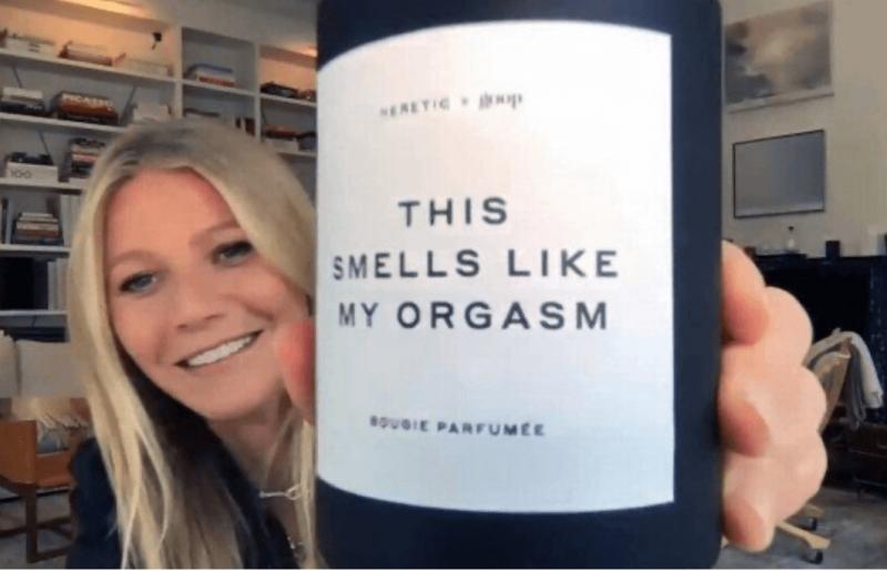"""VÍDEO: Depois do """"aroma de vagina"""", Gwyneth Paltrow lança vela com ..."""