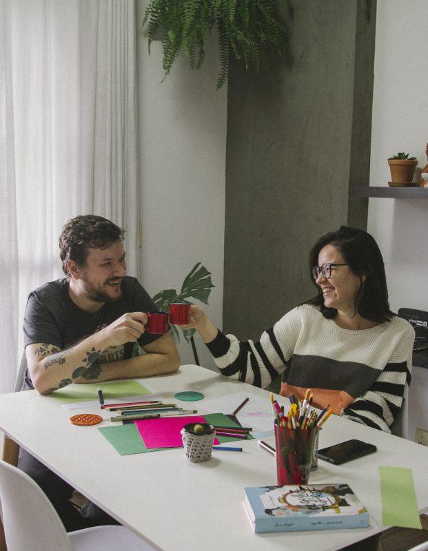 Juntos há um ano e meio, Heloísa e Franco dividem o dia-a-dia há cerca de três meses – Foto: Arquivo Pessoal/Divulgação