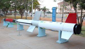 Réplica do Veículo de Sondagem Brasileiro (VSB-30) em 2017 – Foto: Ufsc/Divulgação/ND/Reprodução