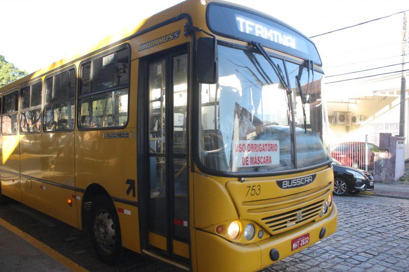 Ônibus voltaram a circular nesta segunda-feira (22) em Jaraguá do Sul – Foto: Edu Montecino/Divulgação