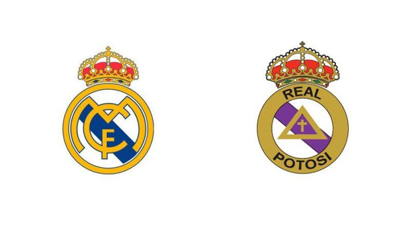 É o caso também do galático Real Madrid. Em 1994 o presidente do Real Potosí resolveu mudar o escudo do clube pois gostava muito da equipe espanhola - Reprodução