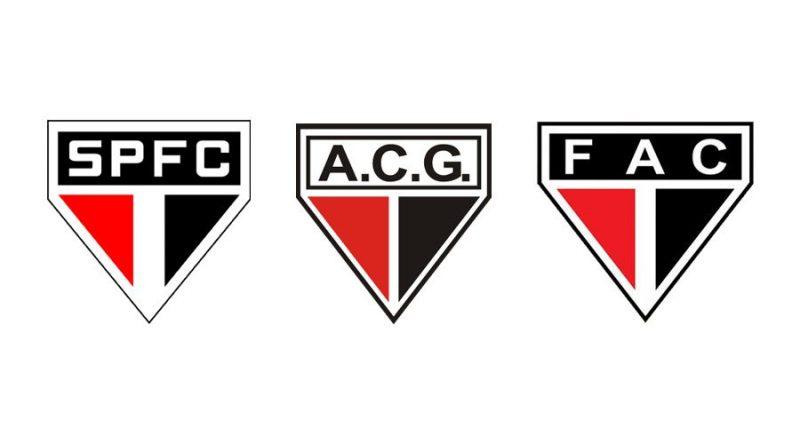 O Atlético Goianiense, além do Ferroviário do Ceará, tiveram seus escudos inspirados no tri campeão do mundo, São Paulo - Reprodução