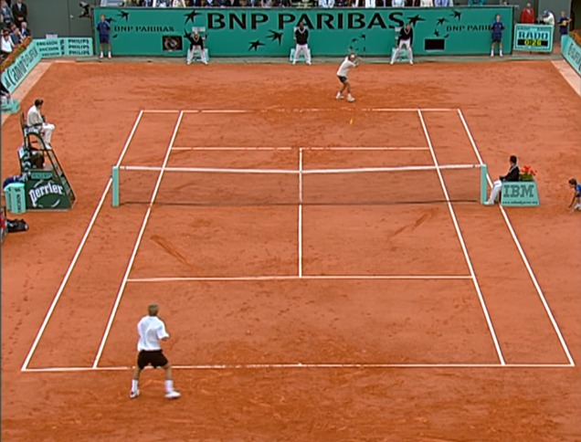 In the beginning, Guga won the two sets by 6/2 and 6/3 - Reproduction / YouTube / Roland Garros / ND
