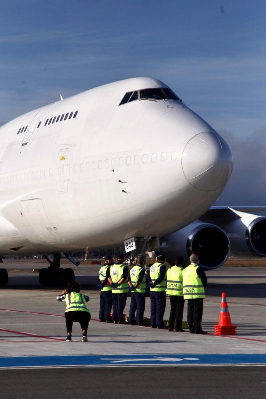 For the first time in history, Florianópolis International Airport received the Boeing 747-400F cargo aircraft - Anderson Coelho / ND