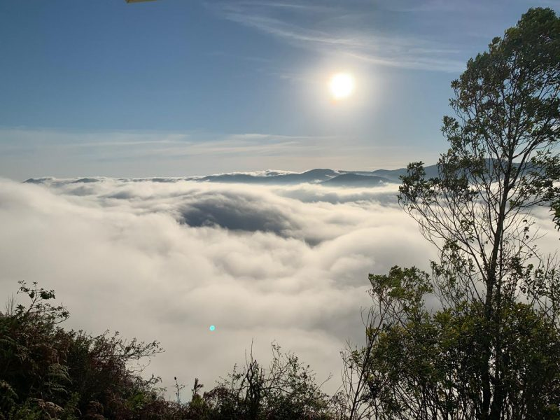 According to Marcelo Martins, a meteorologist from Epagri / Ciram, in Florianópolis the sea fog occurs, which is when the hot and humid air comes in contact with the ocean surface that is cooler, forming a low cloudiness, which dissipates throughout the day . - Cristian Wilson / ND