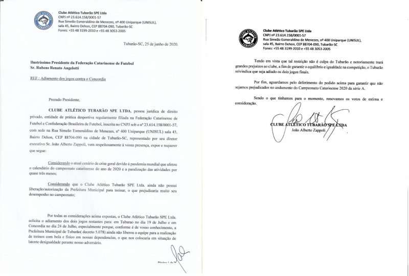 Equipe enviou documento à FCF pedindo o adiamento – Foto: Reprodução/ND
