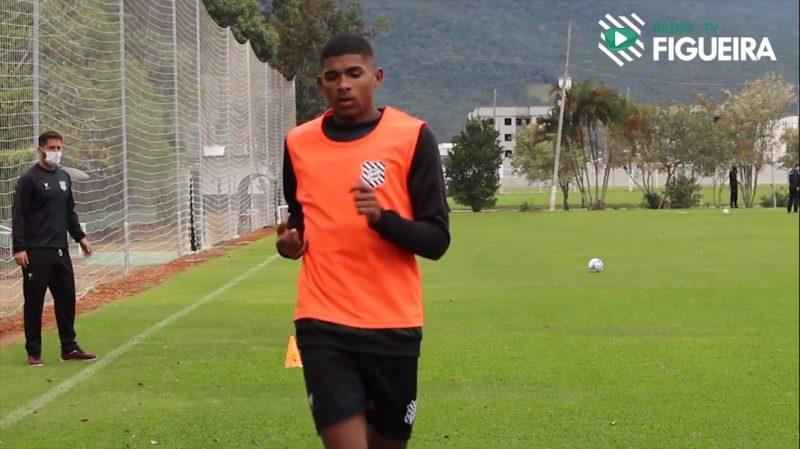 Gabriel Lima ficará emprestado ao Figueirense até 30 de abril de 2021 – Foto: Reprodução/Rádio Figueira/ND