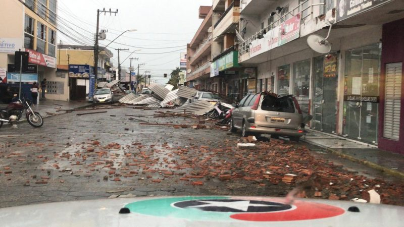 Navegantes Center, which registered winds of up to 90km / h - Press Release / ND