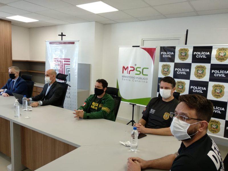 Operação Oxigênio: Força-Tarefa está em busca dos R$ 33 milhões – Foto: Polícia Civil SC/Divulgação/ND