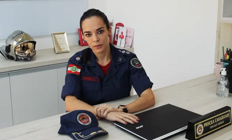 Priscila Casagrande vai atuar no 7º Batalhão, em Itajaí – Foto: Reprodução/Redes Sociais/ND