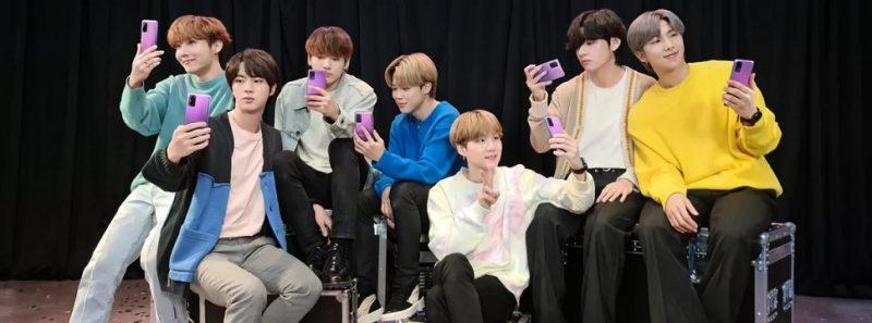 Além do BTS: celulares lançados em parceria com celebridades - Divulgação/Samsung
