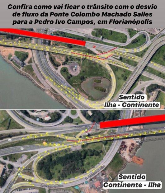 Desvios serão feitos durante esta fase da obra de recuperação – Foto: Divulgação/SIE/ND