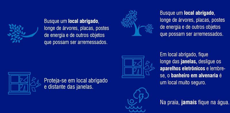 Cuidados a serem tomados durante vendavais e temporais – Foto: Defesa Civil/Divulgação/ND