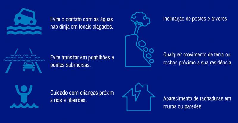 Defesa Civil alerta para cuidados – Foto: Defesa Civil/Divulgação/ND