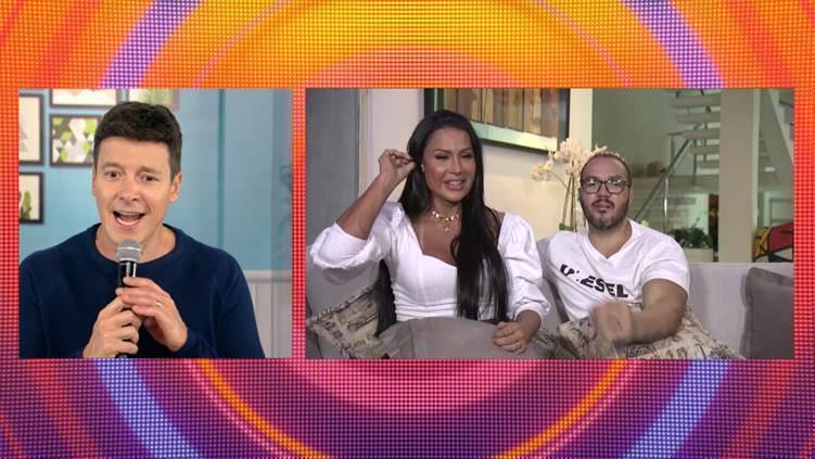 Rodrigo Faro participa de live com cantor Belo e Gracyanne Barbosa – Foto: Divulgação/ Record TV