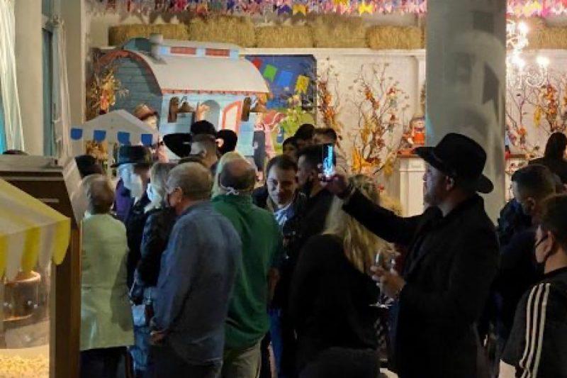 Apesar de proibida por decreto o governador participa de uma festa junina. Que se dane a pandemia …. – Foto: Divulgacão/ND