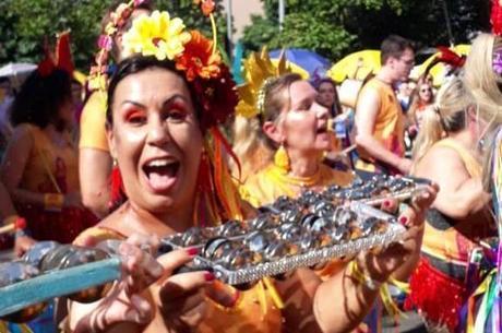 Jussara sente falta dos ensaios do bloco de Carnaval – Foto: Acervo Pessoal/R7/Reprodução