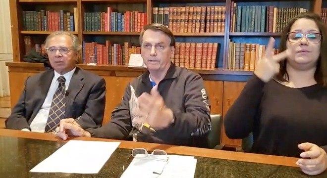 Presidente fez uma live ao lado do ministro Paulo Guedes – Foto: Reprodução/ND