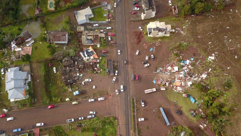Áreas atingidas foram fotografadas nesta quinta-feira (11) – Foto: Defesa Civil