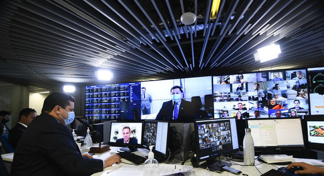 Sessão virtual do plenário do Senado – Foto: Marcos Oliveira/Agência Senado