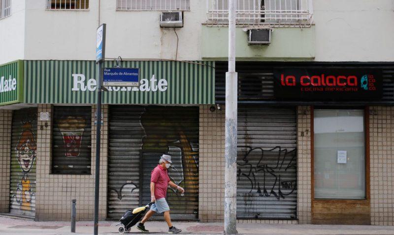 Rio de Janeiro tem o primeiro dia de comércio fechado por determinação da prefeitura – Foto: Tania Regô/Agência Brasil/ND