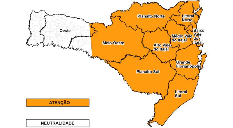 Alerta de ventos fortes em Santa Catarina – Foto: Defesa Civil/Divulgação