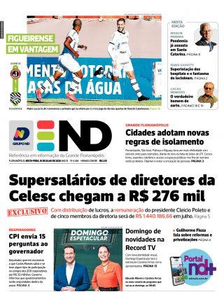 Capa - Jornal Notícias do Dia
