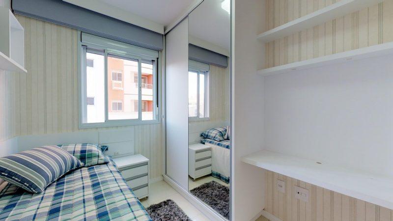 Ambientes decorados em apartamento do Residencial Santos Dumont, em São José - Foto: AM Construções/Divulgação/ND