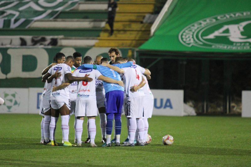 Brusque foi até a Arena Condá, em Chapecó, para a primeira partida da final do Catarinense 2020 – Foto: Lucas Gabriel Cardoso/Brusque FC/Divulgação/ND