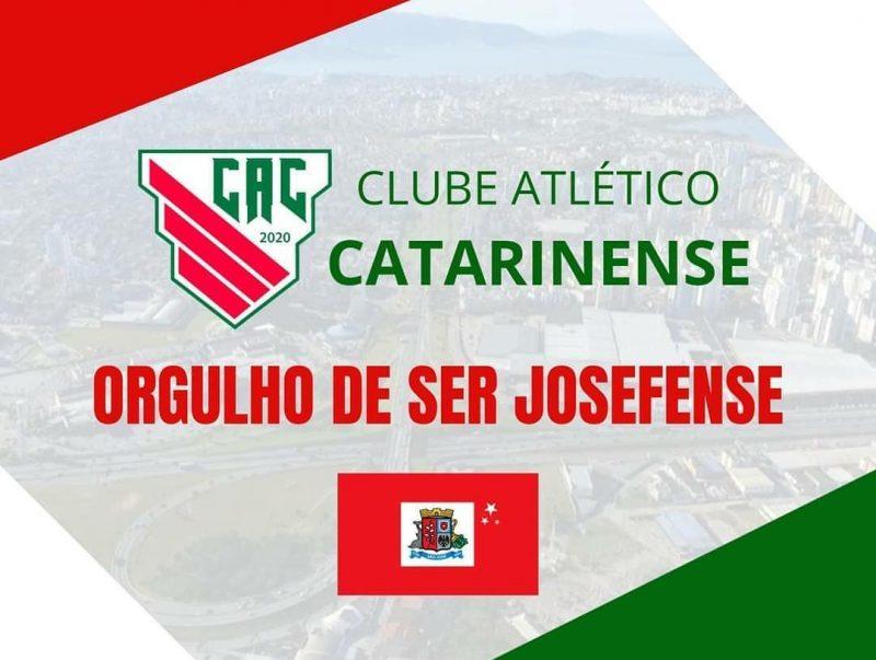 Nas redes sociais do Clube Atlético Catarinense, menções ao município de São José – Foto: divulgação/comunicaçãoCAC