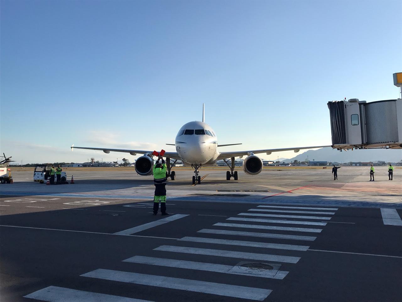 Presidente Jair Bolsonaro chega ao Floripa Airport - Anderson Coelho/ND