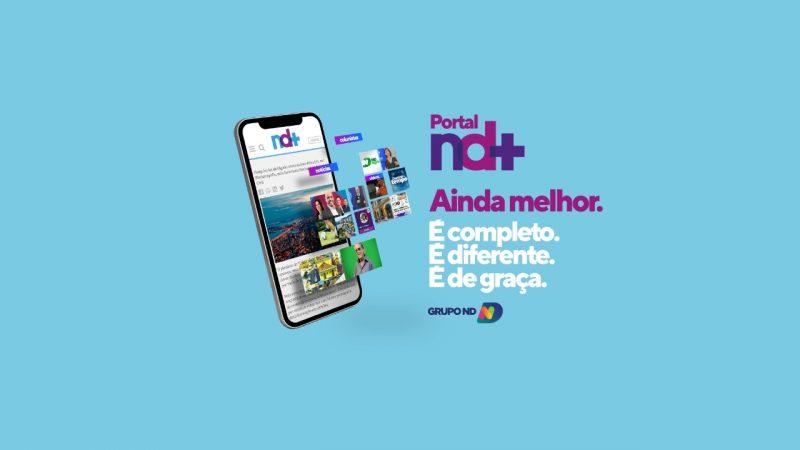 Novo portal nd+ está com visual mais clean e oferece melhor experiência de leitura – Foto: Reprodução/Grupo ND/ND