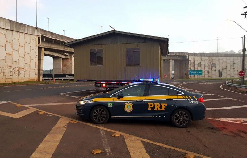 PRF registrou o caso em Chapecó – Foto: PRF/ND