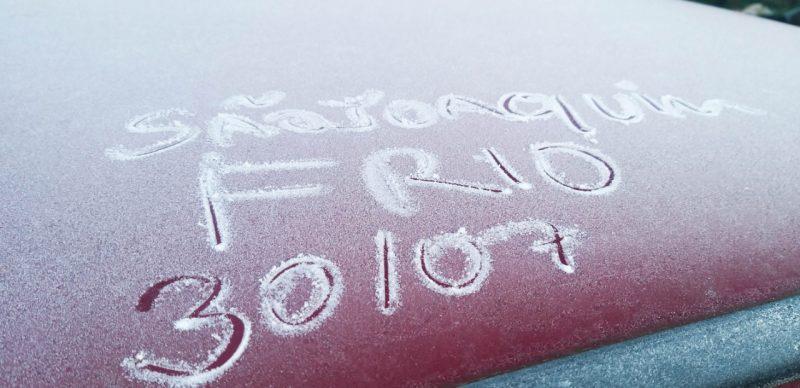 Registro do frio na Serra catarinense na manhã desta quinta-feira – Foto: Wagner Urbano/Divulgação/ND