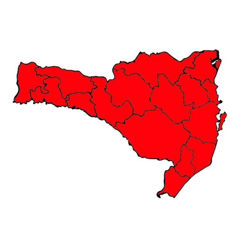 Atualização mostra o Estado todo no nível gravíssimo (vermelho) – Foto: SES/Divulgação