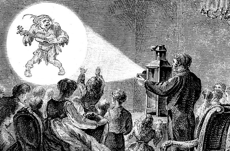 """No final do século 18, Desterro foi a única cidade do país a assistir a uma projeção da """"lanterna mágica"""", trazida pelo navegador La Pérouse – Foto: Reprodução/ND"""