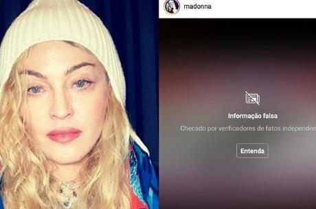 Madonna defende cloroquina e tem post advertido como fake news