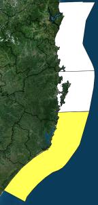 Alerta de ressaca e mar agitado no Litoral Sul do Estado – Foto: Defesa Civil/Divulgação