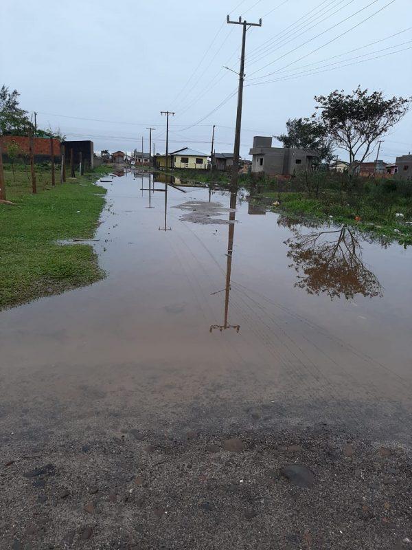 Balneário Arroio do Silva também teve ruas alagadas – Foto: Reprodução redes sociais/Divulgação/ND