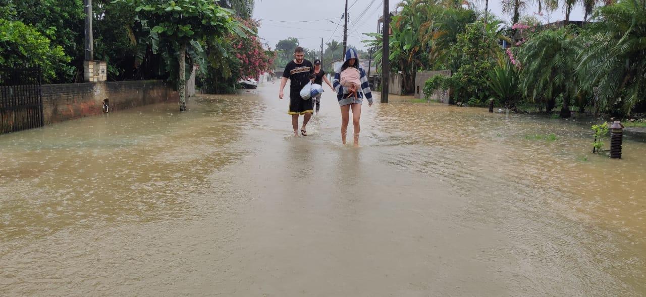 Rua Haiti, em Timbó - Stêvão Limana / NDTV