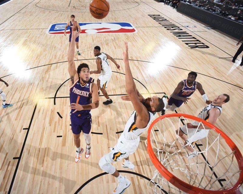 O Phoenix Suns não possui oito atletas, o número mínimo para entrar em quadra – Foto: Divulgação/NBA/ND