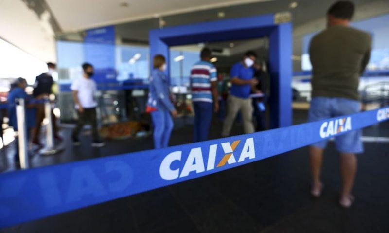Fila para entrada em agência da Caixa, em Brasília. – Foto: Marcelo Camargo/Agência Brasil/ND