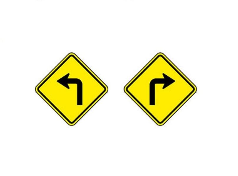 Curva acentuada à esquerda e Curva acentuada à direita - Foto: Reprodução/Garagem 360/ND