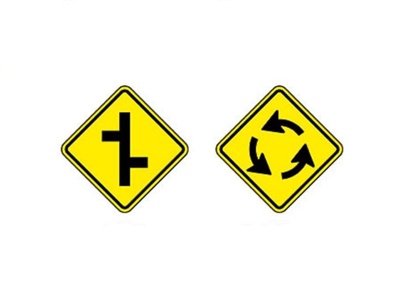 Junções sucessivas contrárias primeira à direita e Interseção em círculo - Foto: Reprodução/Garagem 360/ND